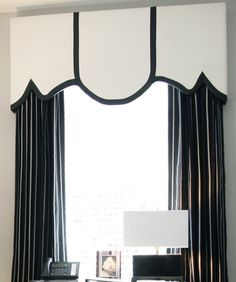 Black and White Window Treatments add Elegance to Your Home