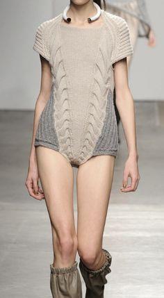 <3 : knitted bodysuit:  VPL Fall 2012