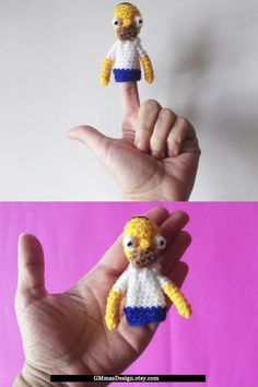 The Simpsons finger puppets / toys / Homer Simpson / amigurumi / baby gifts / baby learning toys / plush / handmade toys Handmade Shop, Handmade Toys, Etsy Handmade, Easy Diy Crafts, Fun Crafts, Baby Learning Toys, Puppet Toys, Toys For 1 Year Old, Waldorf Toys