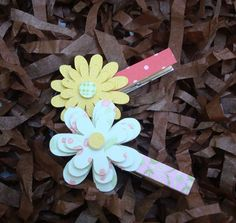 Handmade Flower Wood Clothes Pin with Patterned Paper for lovely decoration Girl Birthday Cards, Handmade Flowers, Baby Showers, Celebrations, Watercolor, Christmas Ornaments, Games, Decoration, Holiday Decor