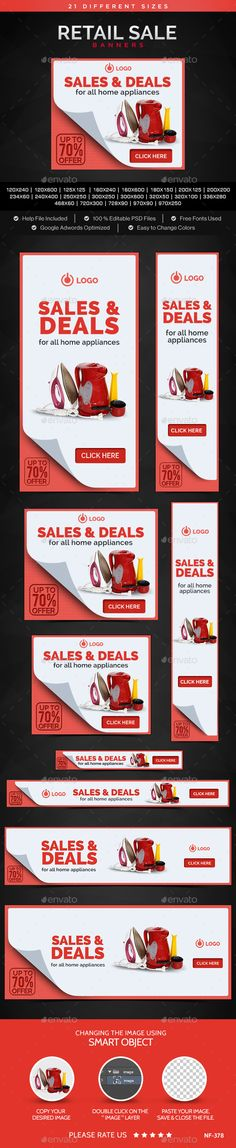 Retail Sale Web Banners Tempalte #ads #banners Download: http://graphicriver.net/item/retail-sale-banners/11644197?ref=ksioks