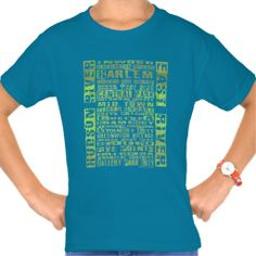 NYC Neighborhoods Green Type Design T-Shirt by ITD New York. Love NY from North to South and East to West? Get this Tee today!