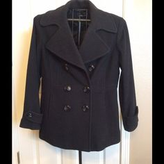 ✨Reduced Price- London Fog Black Pea Coat London Fog Black Pea Coat. In excellent condition. Med length, fully lined. Only worn a couple times.  Very nice coat warm coat. London Fog Jackets & Coats