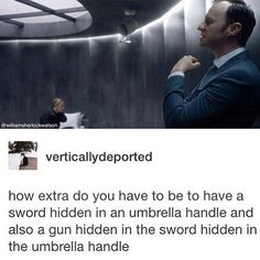 It was nice to finally know why he was always carrying that umbrella! Sherlock.