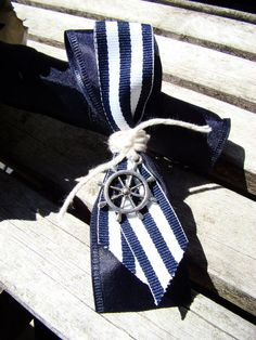 Nautical Boutonniere,Wedding Boutonniere, Ship's Wheel, Anchor Boutonniere, Nautical Wedding, Beach Wedding