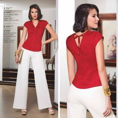 China Fashion, Royal Fashion, Classy Work Outfits, Casual Outfits, Blouse Styles, Clothing Patterns, Casual Chic, Style Guides, Summer Outfits