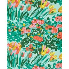 Amy Butler Violette - Meadow Blooms Minty | 100% cotton floral fabric