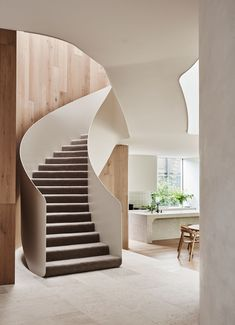 Canopy House By Leeton Pointon Architects And Allison Pye Interiors Yellowtrace 05 Interior Stair Railing, Staircase Design, Halle, Interior Architecture, Interior Design, Melbourne House, Australian Homes, House Built, Canopy