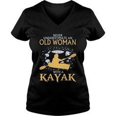 Old Woman With A Kayak Shirt