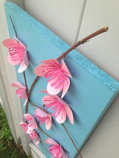 3D Cherry Blossom Wall Art - Dawn Warnaar for Silhouette