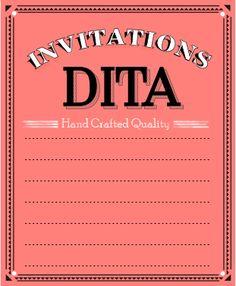 Dita Design -  Wedding Invitations