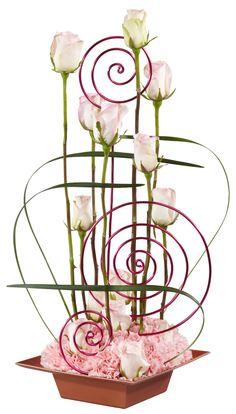 parallet systems floral new convection design Art Floral, Deco Floral, Floral Design, Contemporary Flower Arrangements, Creative Flower Arrangements, Rosen Arrangements, Floral Arrangements, Flower Show, Flower Art