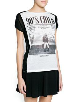 Camiseta 90's paneles gasa