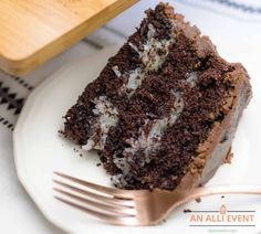 Chocolate Mounds Cake With Coconut Filling - An Alli Event
