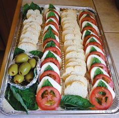 Party Sandwich platter - everyone can make their own love it.