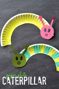 Paper Plate Caterpillar Craft for Kids- Perfect for spring or a unit on butterflies!