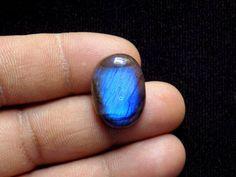 17 23 MM Blue Labradorite Oval Cabochon, Natural Flashy Handmade Polished Cabachon Gemstone 17 Cts