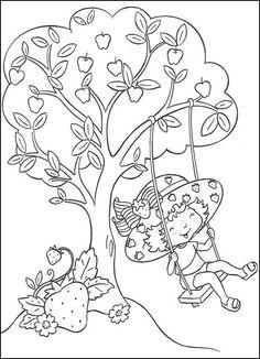 Dibujos para Colorear Fresita-Tarta de Fresa 22