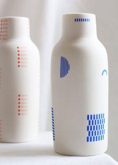 The Granite Bottle Vase Ceramic Vase, Ceramic Pottery, Ecole Design, Bottle Vase, Modern Ceramics, Ceramic Design, Bottle Design, Packaging Design Inspiration, Diy Art