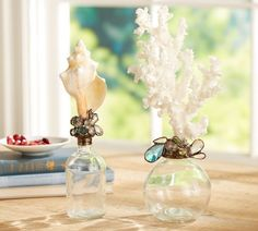 Jeweled Sea-Life Topped Bottles | Pottery Barn