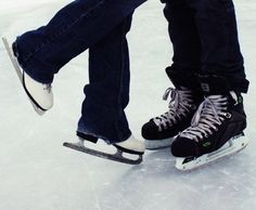 'Figure skater + hockey player = <3'....had to pin this! lol