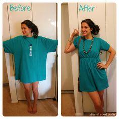 Transforme camisetas velhas em vestidos