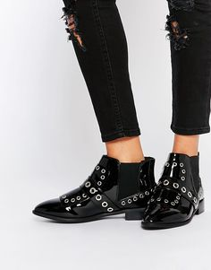 ASOS ANCESTOR Eyelet Ankle Boots