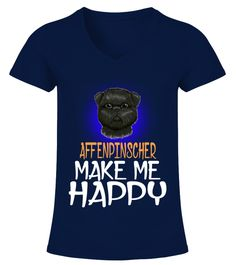 "# Affenpinscher Dog Make Me Happy .  HOW TO ORDER:1. Select the style and color you want2. Click ""Buy it now""3. Select size and quantity4. Enter shipping and billing information5. Done! Simple as that!TIPS: Buy 2 or more to save shipping cost!This is printable if you purchase only one piece. so don't worry, you will get yours.Guaranteed safe and secure checkout via: Paypal 