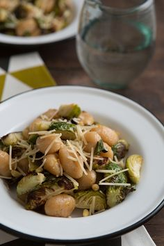 Gnocchi with Roasted Brussels Sprouts, Lemon & Pine Nuts | Oh My Veggies