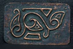 Celtic-inspired copper component panel