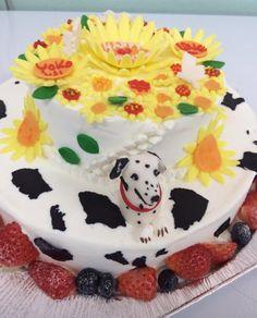 お花とダルちゃんのcake