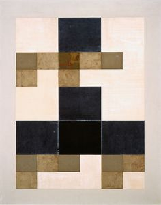 """cacaotree: """"Jean Arp Large Collage (Grand collage), 1955 reconstruction of original of ca. 1918 Paper collage, watercolor, and metallic and oil paint on Masonite """""""