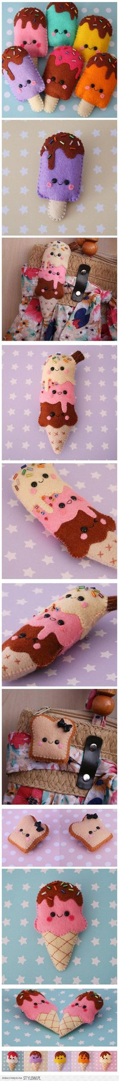 Felt DIY ice cream is part of Felt crafts Food - Visit the post for Cute Crafts, Crafts To Do, Felt Crafts, Fabric Crafts, Sewing Crafts, Sewing Projects, Crafts For Kids, Sewing Toys, Felt Food