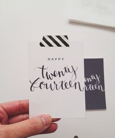 Twenty Fourteen Card by paislee press (free download)