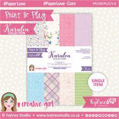PP/195/PL/C - Print&Play - Karalea Paperlove Core Bundle - (A4 x 8)