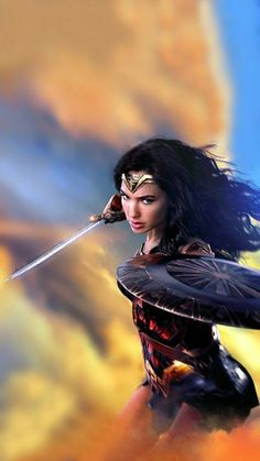 Gal Gadot as Wonder Woman Wonder Woman Art, Gal Gadot Wonder Woman, Wonder Woman Movie, Wonder Women, Wonder Woman Quotes, Heroine Marvel, Héros Dc Comics, Gal Gardot, Super Heroine