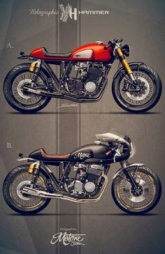 Racing Cafè: Cafè Racer Concepts - Honda CB 750 SOHC 1976 by Holographic Hammer