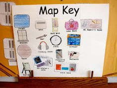 Map key to go along with cumulative map to teach map skills!