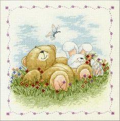 Schematic cross stitch Best Friends 1