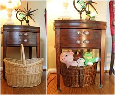 HGTV.com -- dog toy storage basket before and after
