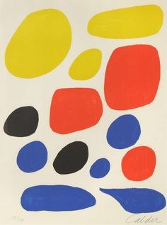 Alexander Calder - Flight, 1970, color lithograph