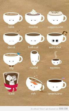 How cute do you like your coffee? Really sweet illustration :)
