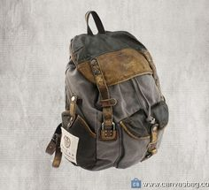 Leather-Canvas-Backpack-Canvas-Backpack-Laptop-Bag-16 Laptop Backpack, Leather Backpack, Travel Backpack, Fashion Backpack, Cow Leather, Leather Bag, Canvas Laptop Bag, 17 Inch Laptop, Designer Backpacks