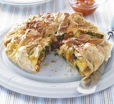 Ingredientes del quiché de espinacas, hongos y patatas 400 gramos de espinacas 500 gramos de hongos (Portobello, champignones, shiitake) 2 d...