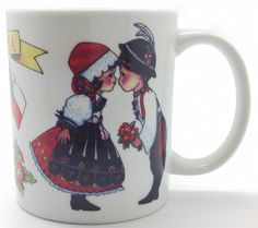 Czech 3 Graphic Mug. A great Czech gift idea featuring multiple pieces of Czech themed artwork on the mug, handle and inside. Featured Designs include: Czech Ki