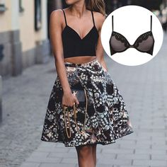 Crop it with a crop top! Bra Simone is perfect with it!