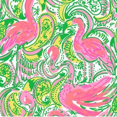 dying over all the flamingos in Lilly's Spring 2015 line