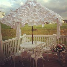Love the umbrella!  via Facebook/Denise's Window Box