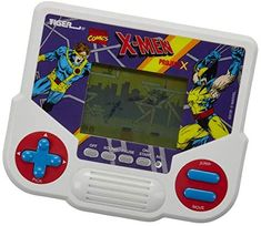 Tiger Electronics Marvel X-Men Project X Electronic LCD Video Game, Retro-Inspired 1-Player Handheld Game, Ages 8 and Up Stages Of Play, Handheld Video Games, Underwater Painting, Man Projects, Man Character, Play 1, Marvel X, Vintage Games, X Men