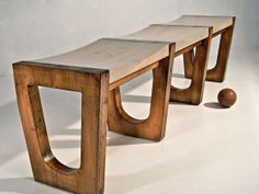 Reclaimed Bowling Lane Bench in 330 Tompkins Avenue, Staten Island, NY 10304, USA ~ Apartment Therapy Classifieds